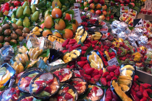 La Boqueria Market Barcelona is full of beautiful fresh produce!