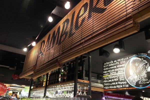 Bar Ramblero at La Boqueria Market Barcelona