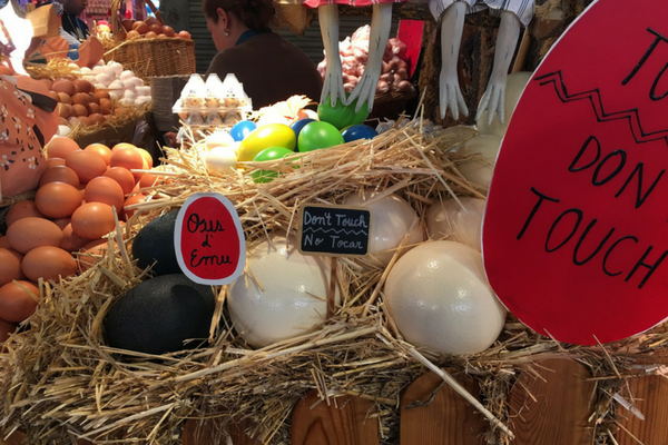 La Boqueria Market Barcelona has stalls for just eggs alone!