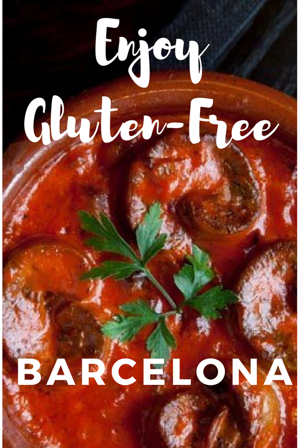 Enjoying some of the best restaurants around - of course ones that serve only the best gluten-free in Barcelona!